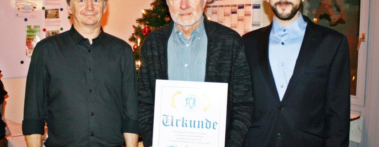 Otto Poperl wird Ehrenmitglied